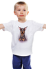 "Детская футболка ""Доберман"" - иллюстрация, собаки, doberman, доберман"