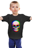 """Детская футболка """"Череп 3D"""" - skull, череп, абстракция, 3d"""