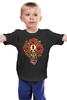 """Детская футболка классическая унисекс """"Horror Art """" - skull, череп, арт, гроб, розы, roses, coffin"""