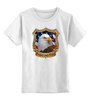 "Детская футболка классическая унисекс ""American Eagle"" - american flag, eagle, американский флаг, орёл, america"