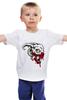 """Детская футболка классическая унисекс """"Череп козла"""" - череп, кровь, рога, козел"""