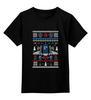 """Детская футболка классическая унисекс """"Новогодний Тардис"""" - новый год, узор, ангелы, подарок, doctor who, tardis, снежинки, ёлка, снеговик, доктор кто"""
