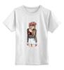 """Детская футболка классическая унисекс """"Девушка с венком"""" - девушка, heart, романтика, венок"""