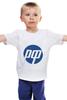 """Детская футболка классическая унисекс """"РФ логотип"""" - россия, техника, hp, антибренд"""