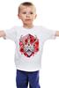 """Детская футболка """"Джекалоп"""" - арт, rabbit, horns, рогатый заяц, jackalope, folklore, мистификация"""