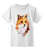 """Детская футболка классическая унисекс """"Poly Fox"""" - fox, лиса, лисица, полигоны"""