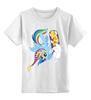 "Детская футболка классическая унисекс ""Winter mood"" - игра, cool, winter, зима, снег, rainbow dash, mlp, my little pony, friendship is magic, awesome"