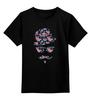 """Детская футболка классическая унисекс """"Цветочный Хипстер"""" - цветы, хипстер, усы, hipster"""