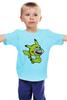 """Детская футболка классическая унисекс """"Mario x Pokemon"""" - пародия, покемон, пикачу, марио, pikachu"""