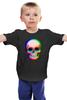 """Детская футболка классическая унисекс """"Череп 3D"""" - skull, череп, абстракция, 3d"""