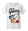 """Детская футболка классическая унисекс """"Gibson"""" - гитара, рок, gibson, гибсон"""