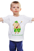 """Детская футболка классическая унисекс """"Бесстрашный воин """" - оружие, камуфляж, защита, охрана, капибара"""