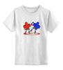 """Детская футболка классическая унисекс """"Аэрохоккей (Air hockey)"""" - fight, драка, аэрохоккей, air hockey"""