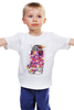 """Детская футболка классическая унисекс """"Гейша"""" - гейша, яркие краски"""