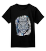 """Детская футболка классическая унисекс """"Doodle Owl"""" - арт, птица, графика, синий, сова, филин, blue, owl, перья, doodles"""