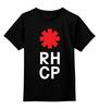 """Детская футболка классическая унисекс """"Red Hot Chili Peppers"""" - red hot chili peppers, красные острые перцы чили, rhcp"""
