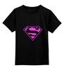 """Детская футболка классическая унисекс """"SuperMan EMO sweatshirt"""" - superman, pink, эмо, e-one, emotion"""