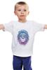 """Детская футболка классическая унисекс """"Лев_Арт"""" - царь, king, лев, король, lion, animal, leo, львы"""