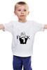 """Детская футболка классическая унисекс """"Fuck Life"""" - жизнь, fuck, аниме"""