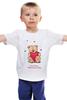 """Детская футболка классическая унисекс """"Happy Valentnine's Day"""" - сердце, heart, bear, медведь, мишка"""