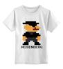 """Детская футболка классическая унисекс """"Heisenberg (8-bit)"""" - во все тяжкие, pixel art, пиксели, breaking bad, хайзенберг"""