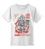 """Детская футболка классическая унисекс """"Zombie football"""" - зомби, американский футбол, american football, zombie football"""