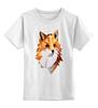 """Детская футболка классическая унисекс """"Poly Fox"""" - fox, лиса, полигоны"""