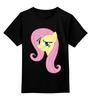 """Детская футболка классическая унисекс """"Fluttershy Appoved"""" - арт, pony, mlp, пони, fluttershy"""