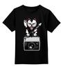 """Детская футболка классическая унисекс """"Давайте Зажигать"""" - музыка, кот, рок, давайте зажигать"""