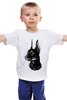 """Детская футболка классическая унисекс """"Доберман"""" - doberman, доберман"""