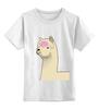 """Детская футболка классическая унисекс """"Альпака Фред"""" - альпака, фред, alpaca"""