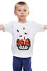 """Детская футболка """"Гриб из Марио (Тетрис)"""" - гриб, mario, марио, tetris, тетрис"""