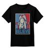 """Детская футболка классическая унисекс """"Believe"""" - lego, постер, believe, лего"""