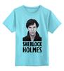 """Детская футболка классическая унисекс """"Sherlock Holmes"""" - лондон, sherlock, шерлок, ватсон, cumberbatch"""