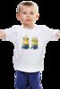 """Детская футболка классическая унисекс """"Миньон"""" - прикольно, прикол, арт, девушка, юмор, смешные, приколы, смешное, футболка, стиль"""