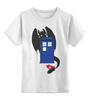 """Детская футболка классическая унисекс """"Как приручить Тардис"""" - doctor who, доктор кто"""