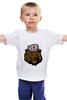 """Детская футболка классическая унисекс """"Russian Bear (Русский медведь)"""" - bear, медведь, россия, russia, путин"""