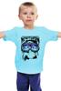 "Детская футболка ""Сноубордист"" - northern lights"
