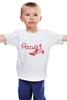 """Детская футболка """"Россия(Хохлома)"""" - патриот, россия, искусство, хохлома, ремесло"""