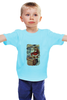 """Детская футболка """"дед мороз в трубе"""" - новый год, new year, christmas"""