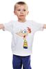 """Детская футболка классическая унисекс """"Мужская Футболка """" Финес """""""""""