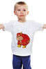 """Детская футболка классическая унисекс """"Fat Flash"""" - flash, обжорство, флэш"""
