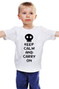"Детская футболка классическая унисекс ""Keep Calm And Carry On"" - zombie, keep, calm, carry"