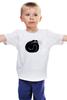 """Детская футболка классическая унисекс """"Чёрный котяра"""" - котэ, смешной кот, black cat, чёрный кот"""