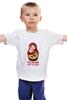 """Детская футболка """"Российский ответ на санкции"""" - путин, putin, санкции"""