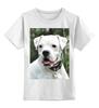 "Детская футболка классическая унисекс ""Aksa&Boxer-Co"" - щенок, боксер, puppy, white boxer"