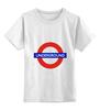 """Детская футболка классическая унисекс """"Underground"""" - арт, стиль, рисунок, london, метро, uk, metro, метрополитен, подземка"""