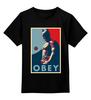 """Детская футболка классическая унисекс """"Batman (Obey)"""" - batman, pop art, бэтмен, obey, повинуйся"""