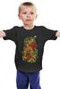 """Детская футболка классическая унисекс """"хохлома"""" - ягода, хохлома, роспись хохломой, русское народное творчество"""