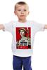 """Детская футболка """"Помни Кто Ты!!! (Знамя Победы)"""" - 9 мая, день победы, солдат, агитка, вов"""